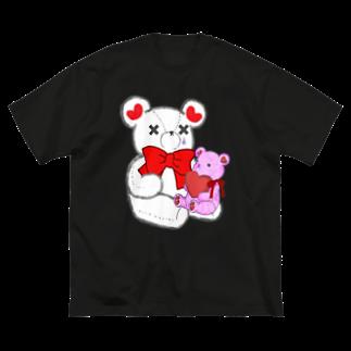 CEのSAKEくま Teddy  Big silhouette T-shirts