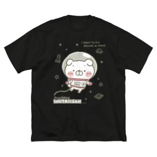 スペース・いぬ田さん Big silhouette T-shirts