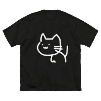 えぬきゃっと Big silhouette T-shirts
