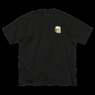 のぞみの飲み過ぎ注意くん 改 Big silhouette T-shirts