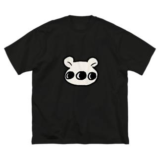 多眼しろくま Big silhouette T-shirts