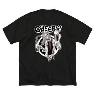 24DANGERのCHEERS Big silhouette T-shirts