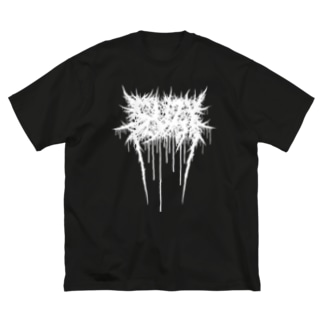 BRUTAL SUZY(白ロゴ) Big silhouette T-shirts