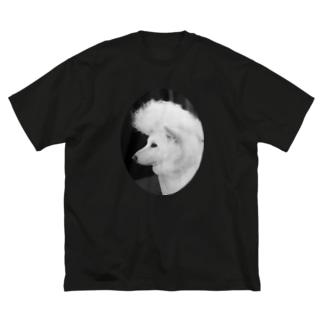 リーゼント犬 Big silhouette T-shirts
