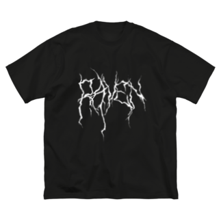RAVENのグッズ販売のMETALLIC Big silhouette T-shirts