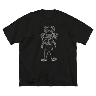 おしゃれガニ Big silhouette T-shirts