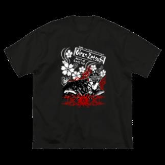 限界破裂 ExplosionLimitの小悪魔パンクバースト花魁(物によっては両面) Big silhouette T-shirts