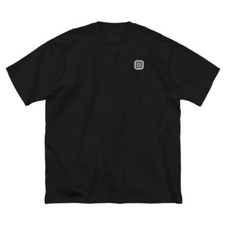 はるniアイコン(白)【両面印刷】 Big silhouette T-shirts