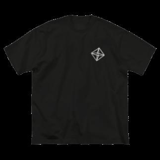 くらりのRegular Octahedron (胸元) Big silhouette T-shirts