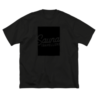 suuminのSauna Travellers Rectangle Black Big silhouette T-shirts