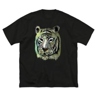 白いトラ トラちゃん Big silhouette T-shirts