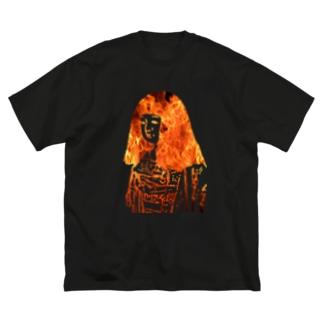 バーニングお菊 Big silhouette T-shirts