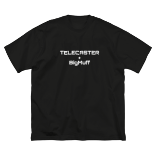 fandalのテレキャスとファズ Big silhouette T-shirts