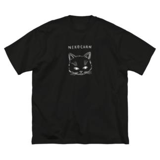 NEKOCHAN WHITE Big silhouette T-shirts