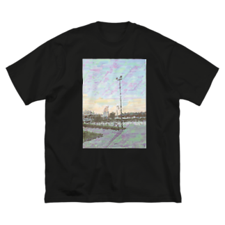 Munōのyokohama_ビッグT Big silhouette T-shirts