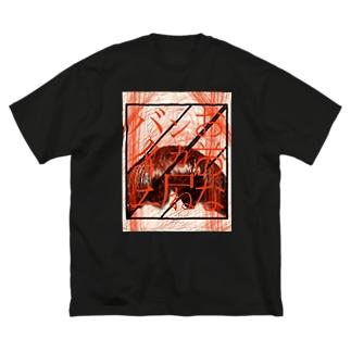 ×××なンカ尸ねバイイノニ Big silhouette T-shirts
