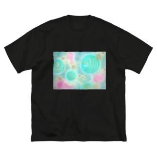 詩子画伯の手書きグッズシリーズ① Big silhouette T-shirts
