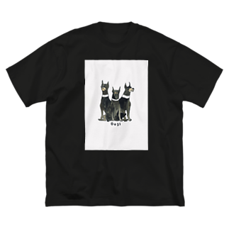 mori8810のdogs Big silhouette T-shirts
