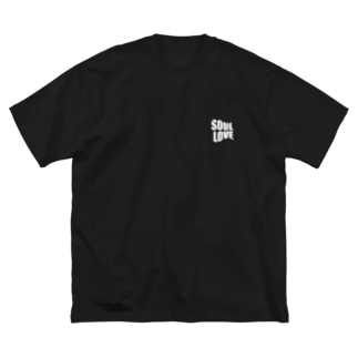 SOUL LOVE ロゴ third Big silhouette T-shirts