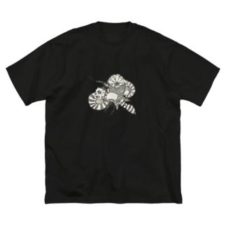 クラゲの世界 Big silhouette T-shirts
