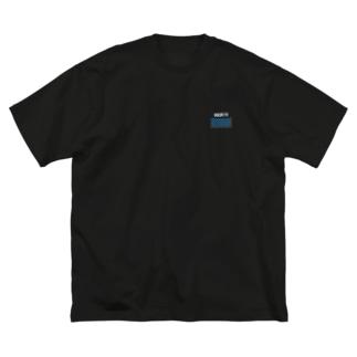 シマシマロゴ(白文字) Big silhouette T-shirts