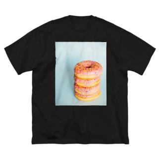 ドーナツ Big silhouette T-shirts