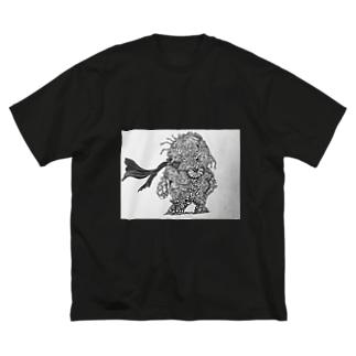 宇宙のチリマン Big silhouette T-shirts