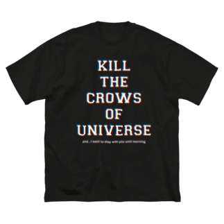 KILL the CROWS of UNIVERSE Big silhouette T-shirts