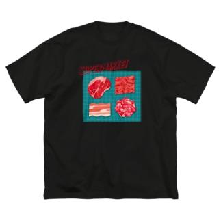スーパーマーケット:肉(フロントVer) Big silhouette T-shirts