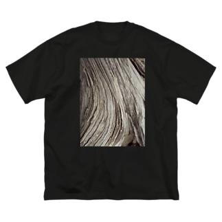 木片 Big silhouette T-shirts