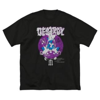 DESTROY purple Big silhouette T-shirts