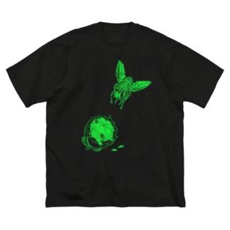 ハエとマンゴスチン Big silhouette T-shirts