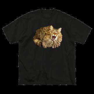 とらお/虎緒のまむさん(あくび) Big silhouette T-shirts