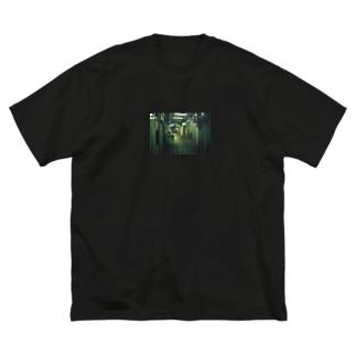 路地 Big silhouette T-shirts