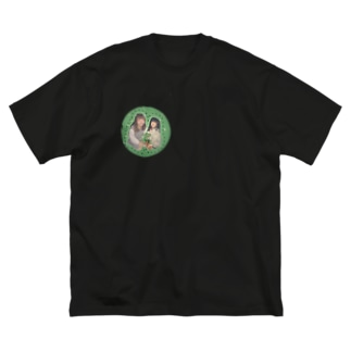 ぽんぬちゃんとぽんぬちゃん Big silhouette T-shirts