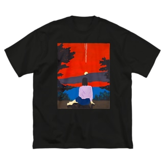 えもT1号 Big silhouette T-shirts
