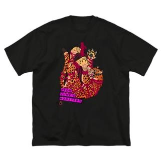 吊り緊縛レオパード Big silhouette T-shirts