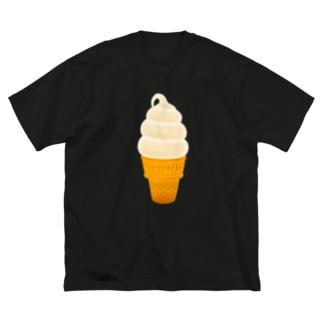 🍦光るソフトクリーム Big silhouette T-shirts