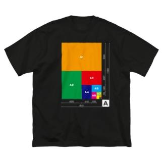【A判】用紙サイズ表 Big silhouette T-shirts