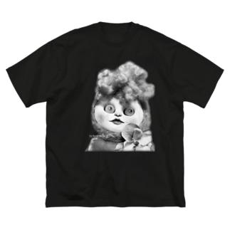 リーゼン妖子Tシャツ〜白黒バージョン〜 Big silhouette T-shirts