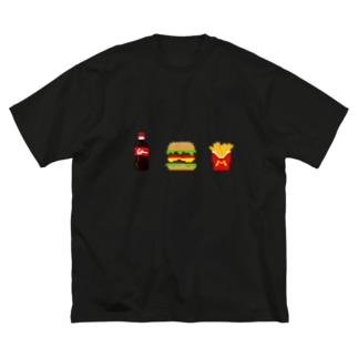 ハンバーガー Big silhouette T-shirts
