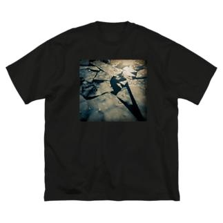 斜陽 Big silhouette T-shirts