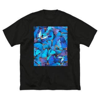 モルフォ両面プラスサイズ Big silhouette T-shirts