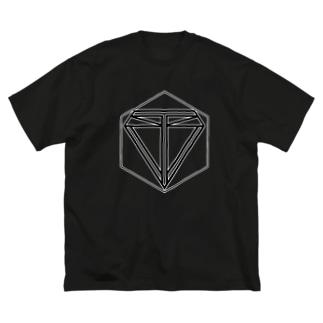 ロゴ Big silhouette T-shirts