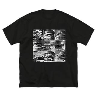 ハンバーガー大集合 Big silhouette T-shirts