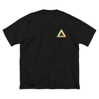 三角形 Big silhouette T-shirts