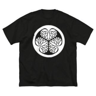 葵紋(徳川)白 Big silhouette T-shirts