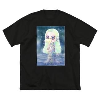 きたがわれいこのアマビエ Big silhouette T-shirts