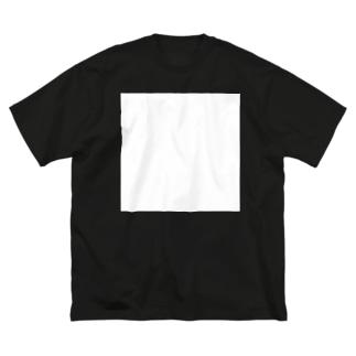 白い四角 BT-sh Big silhouette T-shirts