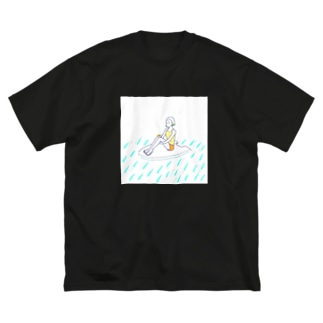 うみ Big silhouette T-shirts